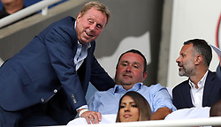 Harry Redknapp (left) and Wales manager Ryan Giggs (right) in the stands before the Sky Bet Championship match at the Madejski Stadium, Reading.