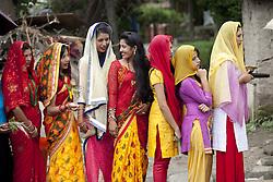 KATHMANDU, Sept. 6, 2016 (Xinhua) -- Nepalese Hindu women stand in queue to offer prayers during Rishi Panchami festival at Risheshwor Mahadev in Kathmandu, capital of Nepal, Sept. 6, 2016. Rishi Panchami festival marks the end of the three-day Teej festival when women worship Sapta Rishi (Seven Saints) and pray for health for their husband while unmarried women wish for handsome husband and happy conjugal lives. (Xinhua/Pratap Thapa)(zcc) (Credit Image: © Pratap Thapa/Xinhua via ZUMA Wire)