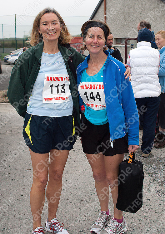 L-R Margaret Harty and Mary Quinlan at the Michael Sunny Murphy Memorial Roadrace at Kilnaboy on Sunday.Pic Press22.