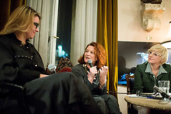 Ivana Djilas, Jedrt Jež Furlan in Barbara Cerar na predstavitvi knjige Hiša // presentation of Ivana Djilas's new book named Hiša (House), on February 15, 2017 in Ljubljana, Slovenia. Photo by Vid Ponikvar / Sportida
