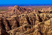 White River Valley Overlook, Badlands National Park, South Dakota USA