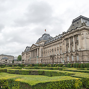 The front of the Royal Palace of Brussels, the official palace of the Belgian royal family.
