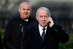 © Licensed to London News Pictures. 01/02/2017. Watford, UK. Burnley FC manager SEAN DYCHE (L) and Former football manager FRANCK CLARK (R) attend The funeral of former England football team manager Graham Taylor at St Mary's Church in Watford, Hertfordshire. The former England, Watford and Aston Villa manager,  who later went on to be chairman of Watford Football Club, died at the age of 72 from a suspected heart attack. Photo credit: Ben Cawthra/LNP