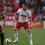 HARRISON, NEW JERSEY- OCTOBER 15: Connor Lade #5 of New York Red Bulls in action during the New York Red Bulls Vs Atlanta United FC, MLS regular season match at Red Bull Arena, Harrison, New Jersey on October 15, 2017 in Harrison, New Jersey. (Photo by Tim Clayton/Corbis via Getty Images)