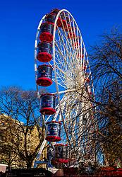 Edinburgh's Christmas 2019: The big wheel in Princes Street Gardens attracts customers throughout the Christmas Season.