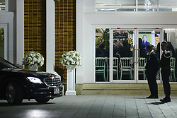 November 3, 2018 - Bangkok, Thailand - Mourners view from a video screen in funeral ceremony of Vichai Srivaddhanaprabha, late chairman of Leicester City Football Club, in Bangkok, Thailand November 3, 2018. (Credit Image: © Anusak Laowilas/NurPhoto via ZUMA Press)
