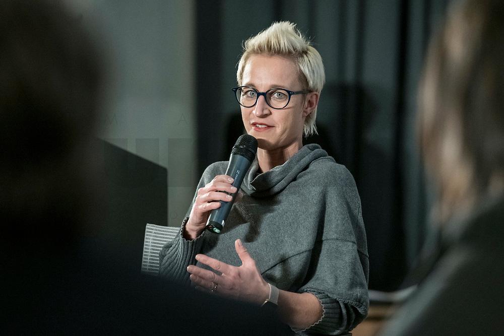 "14 JAN 2019, BERLIN/GERMANY:<br /> Nadine Schoen, MdB, CDU, Veranstaltung der Konrad-Adenauer-Stiftung, KAS, ""Frauenpolitik - Auftrag fuer morgen!"", Sheraton Hotel <br /> IMAGE: 20190114-01-105<br /> KEYWORDS: Nadine Schön"