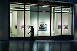 Many art galleries at The Gate Village district in the DIFC Dubai International Financial Centre in United Arab Emirates