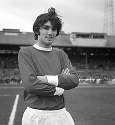 Manchester United's George Best, who made his senior debut in 1963 and was capped for Ireland the following April.
