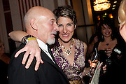 PATRICK STEWART;  TAMSIN GREIG; , Post Olivier Awards Gala party. Waldorf Astoria. London. 13 March 2011. -DO NOT ARCHIVE-© Copyright Photograph by Dafydd Jones. 248 Clapham Rd. London SW9 0PZ. Tel 0207 820 0771. www.dafjones.com.