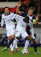 Cheikhou Kouyate of RSC Anderlecht and Zlatan Ibrahimovic of PSG - Paris St Germain