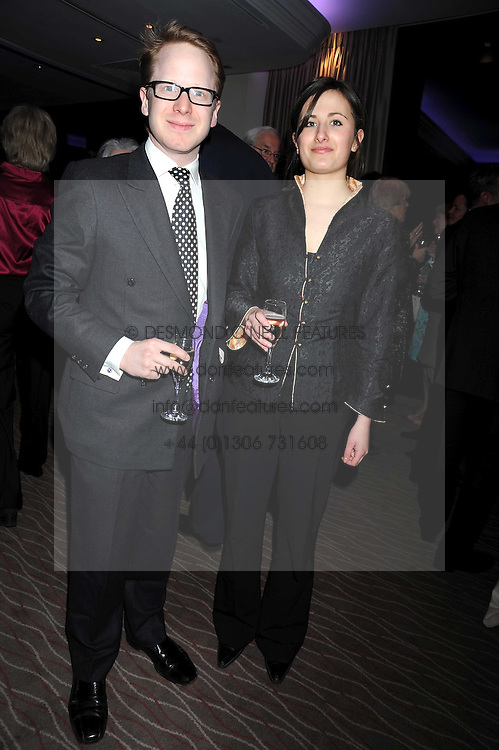 BENEDICT GUMMER and ANNA TEMKIN at the Palace of Varieties in aid of Macmillan Cancer Support held at the InterContinental Hotel, Park Lane, London on 5th February 2009.
