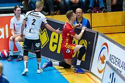 17-02-2019 NED: National Cupfinal Draisma Dynamo - Abiant Lycurgus, Zwolle<br /> Dynamo surprises national champion Lycurgus in cup final and beats them 3-1 / Rik van Solkema #7 of Dynamo, Dustin Bontrop #2 of Dynamo
