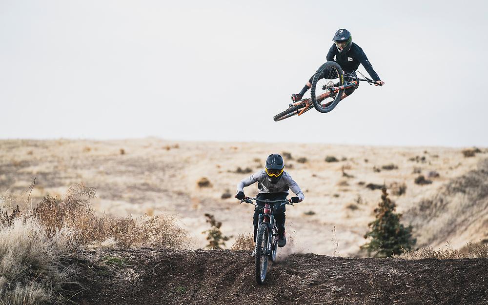 Cam Price and Nick Herrman at Flying iron Horse Ranch, Wanship, Utah.
