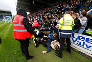 Goal celebration by Wycombe fans following the goal by Wycombe Wanderers Dominic Gape(4) during the EFL Sky Bet League 2 match between Chesterfield and Wycombe Wanderers at the b2net stadium, Chesterfield, England on 28 April 2018. Picture by Paul Thompson.