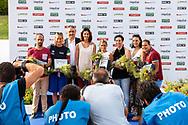 CLERI VALERIO, PELLEGRINI FEDERICA, BARELLI PAOLO, FILIPPI ALESSIA, DALLAPE' FRANCESCA, VITALE FEDERICA, ADELIZZI BEATRICE, GRIMALDI MARTINA<br /> Medagliati Roma 2009<br /> FIN 56 Trofeo Sette Colli 2019 Internazionali d Italia<br /> 21/06/2019<br /> Stadio del Nuoto Foro Italico<br /> Photo © Giorgio Scala, Deepbluemedia, Insidefoto
