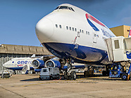 The Last 4 British Airways Boeing 747's awaiting transfer to the scrap man