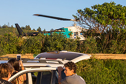 Medical Rescue Helicopter At Papua Gulch