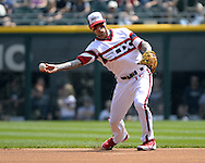 CHICAGO - APRIL 24:  Brett Lawrie #15 of the Chicago White Sox fields against the Texas Rangers on April 24, 2016 at U.S. Cellular Field in Chicago, Illinois.  The White Sox defeated the Rangers 4-1.  (Photo by Ron Vesely)   Subject: Brett LAwrie