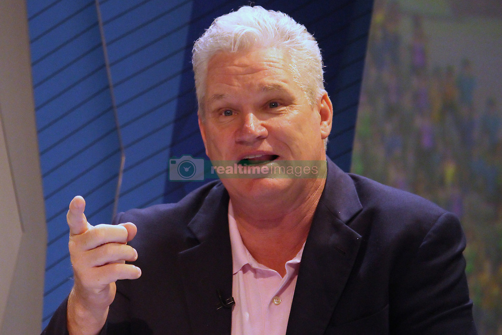 March 22, 2019 - Mumbai, India - Former Australian cricketer Dean Jones reacts while addressesing the media in a press conference in Mumbai, India on 22 March 2019. As the official broadcaster, Star Sports has unveiled 'Select Dugout' for the upcoming VIVO IPL 2019  (Credit Image: © Himanshu Bhatt/NurPhoto via ZUMA Press)