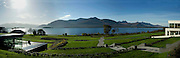 A panorama view from the Europe Hotel, Killarney overlooking Lough Lein with Carrauntoohill Mountain on right..Picture by Don MacMonagle