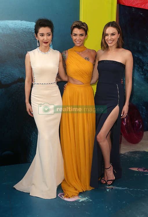 """HOLLYWOOD, CA - August 6: Cassie Scerbo, at Warner Bros. Pictures And Gravity Pictures' Premiere Of """"The Meg"""" at TCL Chinese Theatre IMAX in Hollywood, California on August 6, 2018. 06 Aug 2018 Pictured: Li Bingbing, Ruby Rose, Jessica McNamee. Photo credit: FS/MPI/Capital Pictures / MEGA TheMegaAgency.com +1 888 505 6342"""
