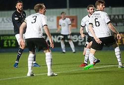 Falkirk's Lee Miller scoring their first goal. Falkirk 3 v 1 St Mirren, Scottish Championship game played 3/12/2016 at The Falkirk Stadium.