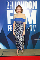 Lily Cole, BFI London Film Festival Awards, Banqueting House, London UK, 14 October 2017, Photo by Richard Goldschmidt