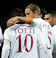 "Mexes  festeggia Totti (Roma) dopo il gol<br />Italian ""Serie A"" 2006-2007<br />20 Dic 2006 (Match Day 17)<br />Torino-Roma<br />""Giuseppe Meazza"" Stadium-Milano-Italy<br />Photographer:Jennifer Lorenzini INSIDE"