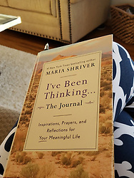 """Maria Shriver releases a photo on Twitter with the following caption: """"""""I'm so excited today to announce """"I've Been Thinking…The Journal"""" - a companion to my bestselling book! The journal is available for pre-order now and will be available everywhere December 31. Order your copy today! #IveBeenThinkingTheJournal https://t.co/YqtZKG69cG https://t.co/KrtCN25T0q"""""""". Photo Credit: Twitter *** No USA Distribution *** For Editorial Use Only *** Not to be Published in Books or Photo Books ***  Please note: Fees charged by the agency are for the agency's services only, and do not, nor are they intended to, convey to the user any ownership of Copyright or License in the material. The agency does not claim any ownership including but not limited to Copyright or License in the attached material. By publishing this material you expressly agree to indemnify and to hold the agency and its directors, shareholders and employees harmless from any loss, claims, damages, demands, expenses (including legal fees), or any causes of action or allegation against the agency arising out of or connected in any way with publication of the material."""