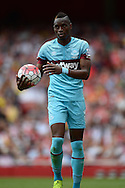 Diafra Sakho of West Ham United looks on. Barclays Premier League, Arsenal v West Ham Utd at the Emirates Stadium in London on Sunday 9th August 2015.<br /> pic by John Patrick Fletcher, Andrew Orchard sports photography.