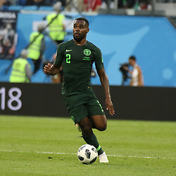 June 26, 2018 - St. Petersburg, Russia - June 26, 2018, Russia, St. Petersburg, FIFA World Cup 2018, First round, Group D, Third round. Football match of Nigeria - Argentina at the stadium of St. Petersburg. Player of the national team Brian Idovu. (Credit Image: © Russian Look via ZUMA Wire)