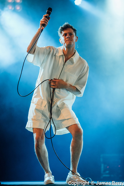 Perfume Genius (real name Mike Hadreas) performs live on the 6Music Stage on Day 1 of Latitude Festival 2016, Friday 15 July.