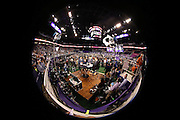 ESPN sports analysts broadcast from the floor of the arena as the New England Patriots do interviews at the NFL Super Bowl XLIX Media Day event at the U.S. Airways Center during the week of their game against the Seattle Seahawks on Tuesday, Jan. 27, 2015 in Phoenix. ©Paul Anthony Spinelli