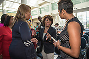 "WASHINGTON, DC -- 9/21/17 -- Congresswoman Maxine Waters hosts the unveiling of Nielsen's seventh annual Diverse Intelligence Series report on African-Americans at the Congressional Black Caucus Foundation annual conference. The 2017 report, ""African-American Women: Our Science, Her Magic"", details data and consumer insights on African-American women's consumer preferences and brand affinities that are driving total Black spending power toward a record $1.5 trillion by 2021..…by André Chung #_AC28586"