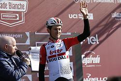 March 9, 2019 - Siena, Italy - Belgian Tiesj Benoot of Lotto Soudal pictured before the Strade Bianche one day cycling race in Siena, Italy, Saturday 09 March 2019...BELGA PHOTO YUZURU SUNADA (Credit Image: © Yuzuru Sunada/Belga via ZUMA Press)