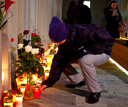 11.11.2010, Gedenkstätte, Kaprun, AUT, Kaprun Katastrophe, 10 Jahre Gedenkfeier, im Bildein Angehöriger stellt eine Kerze nieder // a relatives take a candle inside the Memorial Place down during the 10th Anniversery of the Kaprun Desaster where on 11.11. 2000, 155 People lost there Lifes, EXPA Pictures © 2010, PhotoCredit: EXPA/ J. Feichter / SPORTIDA PHOTO AGENCY