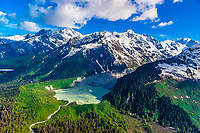 Aerial views of alpine scenery en route from Haines to Glacier Bay National Park, Southeast Alaska USA.