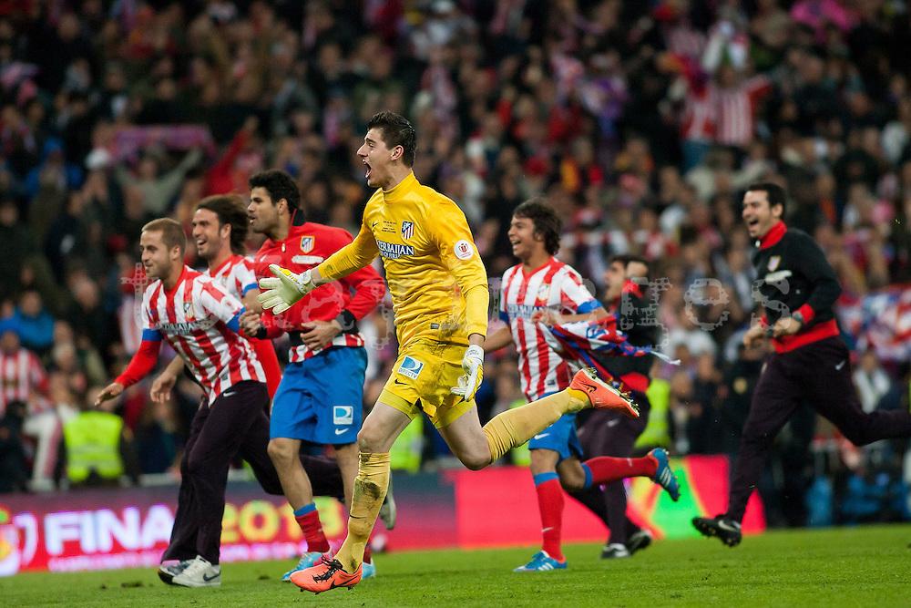 Atletico de Madrid wins the Spain Cup 2013