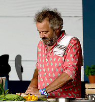 Mark Hix  at the Big Feastival 2021 on Alex James Cotswolds farm, Kingham oxfordshire photo by Michael Butterwoeth