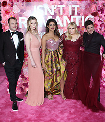 Isn't It Romantic Premiere - Los Angeles. 11 Feb 2019 Pictured: Brandon Scott Jones, Betty Gilpin, Priyanka Chopra, Rebel Wilson, Adam DeVine. Photo credit: Jaxon / MEGA TheMegaAgency.com +1 888 505 6342