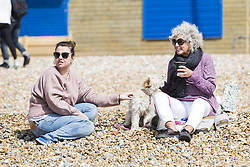 April 29, 2018 - Brighton, East Sussex, United Kingdom - Brighton, UK. Members of the public enjoy the sunny and warm weather on the beach in Brighton at the start of the May bank holiday weekend. (Credit Image: © Hugo Michiels/London News Pictures via ZUMA Wire)