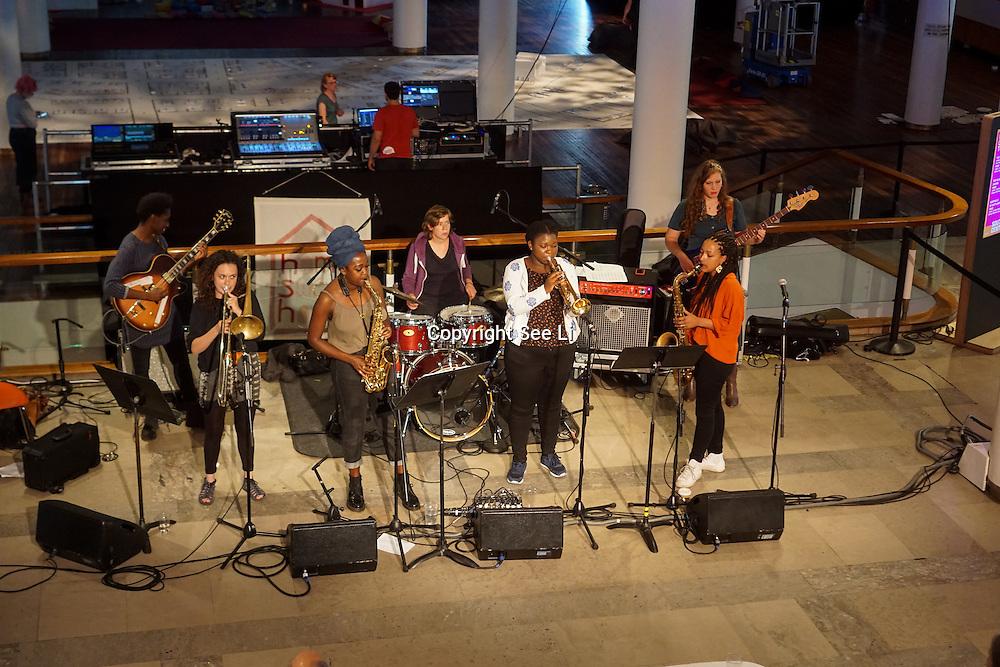 London,England,UK, 19th Aug 2016 : Nérija 'blends jazz, afrobeat and hip hop' preforms at The Royal Festival,London,UK. Photo by See Li