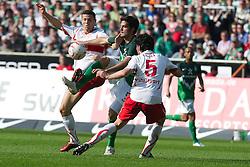 02.04.2011, Weserstadion, Bremen, GER, 1.FBL, Werder Bremen vs VFB Stuttgart, im Bild Denni Avdic ( Werder #09 ) Serdar Tasci (Stuttgart #5)    EXPA Pictures © 2011, PhotoCredit: EXPA/ nph/  Kokenge       ****** out of GER / SWE / CRO  / BEL ******