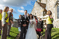 The Wedding of George & Lisa McFarlane at The Church of St Mary the Virgin, Carisbrooke, , October 13th 2012.