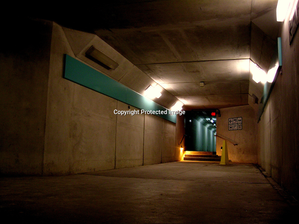 Underground corridor, GO Railway Station, Brampton, ON.