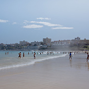 People enjoying the beach after office hours. Bondi Beach