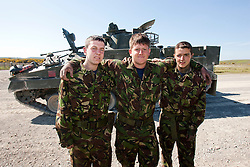 Leigh Nicol, David Bryne & Ryan Young..Exercise Guards Warrior with the Scots Guards at their Catterick base..Pic ©2010 Michael Schofield. All Rights Reserved.