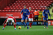 AFC Wimbledon defender Terell Thomas (6) dribbling during the EFL Sky Bet League 1 match between Charlton Athletic and AFC Wimbledon at The Valley, London, England on 15 December 2018.