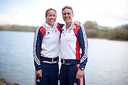 Mcc0038874 . Daily Telegraph..DT Sport..Women's Pair Helen Glover and Heather Stanning.The announcement of the GB Rowing Crews for the first World Cup.. .Reading 4 April 2012